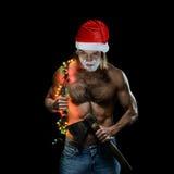 Ho-Ho-Horrible Santa Claus Royalty Free Stock Photo