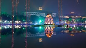 Ho Hoan Kiem, Hanoi. Ho Hoan Kiem, the little lake in the old part of Hanoi, Vietnam Royalty Free Stock Photography