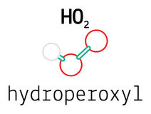 HO2 hydroperoxyl radical molecule Royalty Free Stock Photography