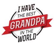 Ho il migliore nonno nell'emblema del mondo Fotografia Stock