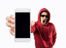 Ho inciso il vostro smartphone Fotografia Stock