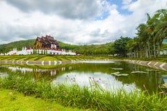 Ho Kham Luang Chiang Mai Koninklijke Flora Ratchaphruek in de bewolking stock foto's