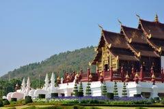 Ho Kham Luang en Flora Expo real, arquitectura tailandesa tradicional Fotografía de archivo libre de regalías