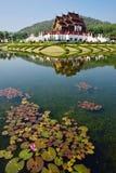 Ho Kham Luang en Flora Expo real, arquitectura tailandesa tradicional Fotografía de archivo
