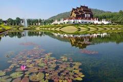 Ho Kham Luang a Flora Expo reale, architettura tailandese tradizionale Immagini Stock Libere da Diritti