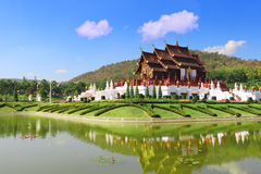 Ho Kham Luang a Flora Expo reale, architettura tailandese tradizionale Immagine Stock