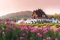 Ho Kham Luang a Flora Expo reale, architettura tailandese tradizionale Fotografie Stock