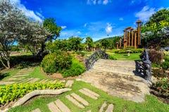 Ho Kham Luang - Flora Ratchaphruek reale alla mattina soleggiata Fotografia Stock