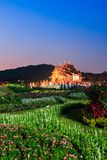 Ho Kham Luang. With sunset sky in Chiang Mai province of Thailand Royalty Free Stock Photos