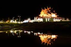 Ho Kham Luang på kunglig flora, Chiangmai, Thailand Arkivfoton