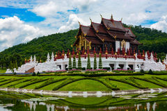Ho Kham Luang Pavilion at Royal Park Rajapruek in Chiang Mai, Thailand Stock Image