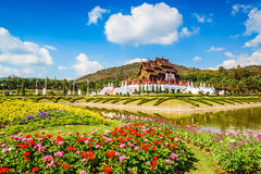 Ho Kham Luang at Royal Park Rajapruek, traditional thai architec Stock Photography