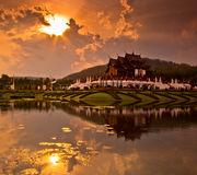 Ho Kham Luang in the sunset Royalty Free Stock Photo
