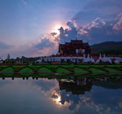 Ho Kham Luang in the sunset Royalty Free Stock Image