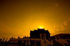 Ho Kham Luang in the sunset Stock Image