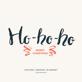 Ho, merry Christmas hand drawn lettering phrase. Royalty Free Stock Photo