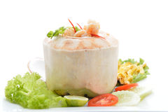 (Ho Mok) Thai food steamed seafood custard , curry seafood mixed Stock Photo