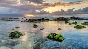 Ho Okipa Sunset Rays Stock Photography