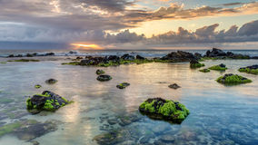 Ho'okipa Sunset Rays Stock Photography