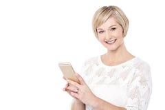Ho ottenuto il mio nuovo Smart Phone! Immagine Stock