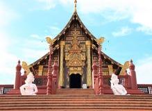 Ho pabellón real de Kham en la flora real Ratchapruek Foto de archivo libre de regalías