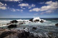 Ho parque da praia do okipa do `, Maui, Havaí, EUA fotos de stock