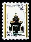 Ho phra vay, Vientiane, serie histórico dos monumentos, cerca de 1989 Imagens de Stock