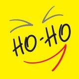 Ho-Ho - rotulação das citações ilustração stock