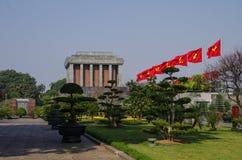 Ho Shi Min mausoleum. In Hanoi city Royalty Free Stock Image