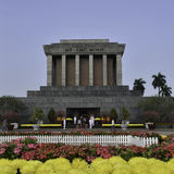 Ho Shi Min mausoleum in Hanoi city. Viednam stock images
