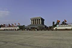 Ho Shi Min mausoleum in Hanoi city Royalty Free Stock Photos