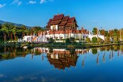 Ho style thaïlandais du nord de luang de Kham dans le ratchaphruek royal de Flora en Chiang Mai, Thaïlande photographie stock