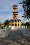 HO (Tower) WITHUN THASANA (The sages lookout). The observatory was built by King Chulalongkorn, Bang Pa-In Palace, Ayutthaya Stock Images