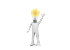 Ho un'idea - uomo lampy Fotografia Stock Libera da Diritti