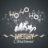 Ho-ho-ho vetor preto dos elementos do Feliz Natal ilustração royalty free