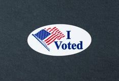 Ho votato Fotografia Stock Libera da Diritti