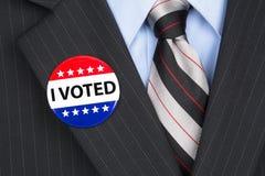 Ho votato il perno su risvolto fotografia stock