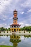 Ho Withun Thasana eller visa mäns utkik på smällen PA-i slotten Co Arkivbild