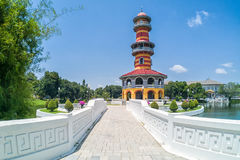 Ho Withun Thasana, or Sages` Lookout, landmark at Bang Pa-In Royal Palace,. Thailand Royalty Free Stock Photography