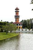 Ho Withun Thasana. View of Ho Withun Thasana, the observatory tower built as a lookout tower for viewing the surrounding countryside Stock Photography