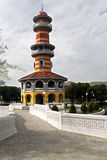 Ho Withun Thasana. View of Ho Withun Thasana, the observatory tower built as a lookout tower for viewing the surrounding countryside Stock Image