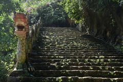 Stone steps path to a temple in Ninh Binh, Vietnam stock photos