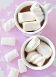 Hoad choklad med marshmallows Royaltyfri Foto