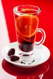 Hoad drink med apelsinen, björnbäret och kryddnejlikor Arkivfoto