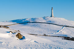 Hoad Hill in winter. Hoad Hill and Sir John Barrow monument in winter Stock Photography