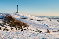 Hoad Hill in winter. Hoad Hill and Monument in winter Royalty Free Stock Image