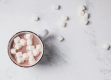 Hoad kakao med Marshmallows Royaltyfria Foton