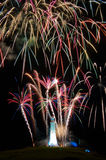 Hoad Monument Fireworks Royalty Free Stock Photos
