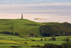 Hoad monument and Morecambe Bay Royalty Free Stock Photo