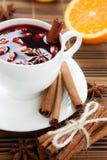Hoad wine för vinter och jul med mandelar, Royaltyfria Foton